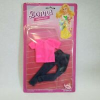 "Vintage Uneeda DONNA 1986 11.5"" Barbie Clone Jeans Fashion Doll Clothing NIP"