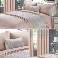 Blush Duvet Covers Pink Satin Glitter Sparkle Bling Quilt Cover Bedding Sets