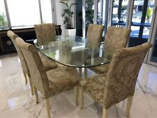 6 seater fossil stone dining table