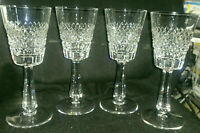 Galway Irish Crystal O'Donnell 4 pieces Wine/goblet Glasses-gothic marked vtg.