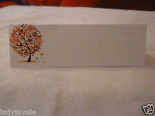 150 Wedding Place Cards for your Guests Names - Autumn Tree Design