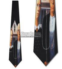 American Gothic Art Tie Grant Wood Neckties Mens Artist Painting Neck Ties NWT