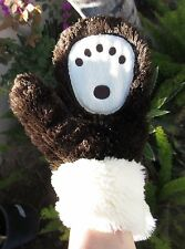 BROWN BEAR PAWS adult Men Women plush costume driving gloves animal warm buddy