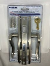 New Entry Door Lever Handle Double Cylinder Mortise Lockset - Brushed Nickel Set