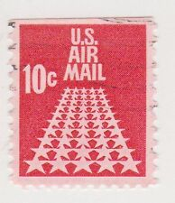 (UST-257) 1968 USA 10c red Fifty stars air mail (M)