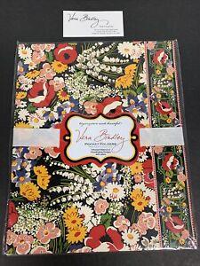 Vera Bradley RARE & RETIRED Set of 4 Poppy Fields Pocket Folders & Labels NIP
