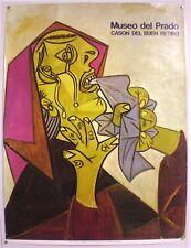 PICASSO – MUSEO DEL PRADO– CASON DEL BUEN RETIRO - AFFICHE ORIGINALE - 1982