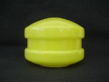VINTAGE RETRO BRIGHT YELLOW GLASS LAMP / CEILING LIGHT SHADE WONDERFUL CONDITION