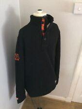 Superdry Premium Fleece Mens Medium Black Orange
