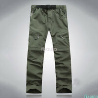 Mens Quick Dry Pants Hiking Cargo Convertible Survival quick dry US Q1R