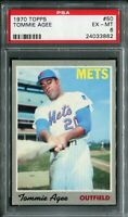 1970 Topps #50 Tommie Agee PSA 6 EX-MT, Tough