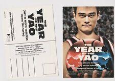 "The Year Of The Yao Promo Screening invite postcard Yao Ming 2005 5"" x 7"""