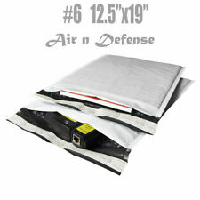 6 125x19 Poly Bubble Padded Envelopes Mailing Mailer Shipping Bags Airndefense