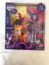 My Little Pony Equestria Dolls Sunset Shimmer & Twilight Sparkle New Damaged Box