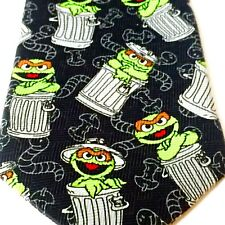 Oscar The Grouch Sesame Street Mens Tie Graphic Jim Henson Productions