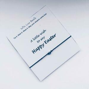 Wish To Say Happy Easter, Wish String, Bracelet, Easter Gift, Missing You Gift