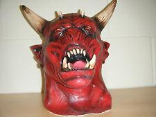 DEVIL ZOMBIE MONSTER HORNS HORROR DELUXE HALLOWEEN FULL HEAD FANCY COSTUME MASK