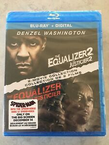 The Equalizer 1 & 2 Movie Collection Blu-Ray Canada Bilingual NO DC LOOK