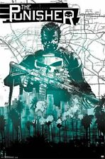 PUNISHER - MAP COMIC POSTER - 22x34 MARVEL COMICS 14300