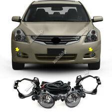 For 2010-2012 Nissan Altima Halogen Front Fog Lights w/ Switch Cable Bezel Kit