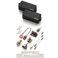 EMG P BASS BLACK ACTIVE FENDER REPLACEMENT SOLDERLESS PICKUP w/ POTS & WIRES