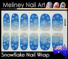 Snow Flake Full Cover Nail Art Wraps Stickers Pattern Christmas Snowflakes