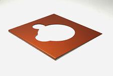 Deckplatte Platte face plate für Thorens TD 125 metallic orange