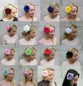 Large Rose Flower Hair Clip Floral Hair Corsage 1940s Vintage Style Boho 0843