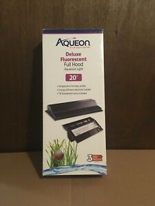 "Aqueon 20"" Fluorescent Black Deluxe Hood For 10 gallon Aquariums"