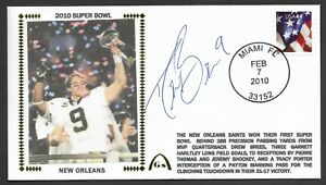 Drew Brees Autographed Super Bowl 44 Win Gateway Stamp Cachet Miami Postmark