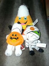 Halloween 3 Squeaky Dog Toys New With Tags