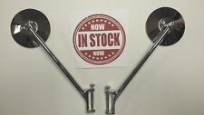 1947 FORD PICK-UP PU TRUCK HINGE PIN MIRROR CHROME / STAINLESS HIGH QUALITY PAIR