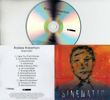 ROBBIE ROBERTSON Sinematic 2019 UK 13-trk numbered promo test CD + press release