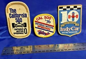 Indianapolis Indy 500 Trio Of SMALL RACING PATCHES Ontario Motor Speedway