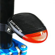 rear solar energy rechargeable light for road mountain bike bicycle