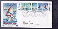 America's Cup Sailing 1987 Austrailia First Day Cover/Stamps DENNIS CONNER Auto