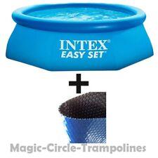 Intex Easy Set Quick Up Pool Planschbecken 305 x 76 cm mit Solarpane 305 cm