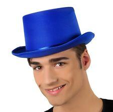 CAPPELLO CILINDRO BLU Carnevale Vestito Costume Travestimenti Copricapo  15757 1af952444d60