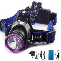 Q5/T6/L2 LED Headlamp torch Headlight frontal flashlight High Power 18650 lamp