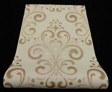 """13308-40) hochwertige Vliestapete """"Ornament"""" Design Tapete beige creme + Glanz"""