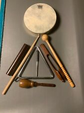 Remo Hand Drum with Percussion Instruments Lot