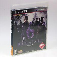 BIOHAZARD 6 Resident Evil PS3 Sony Japan Import PlayStation 3 NTSC-J CAPCOM bio
