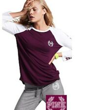 Victoria's Secret PINK Perfect Baseball Tee Shirt Raspberry Large New With Tage