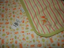 Vintage NWT The Children's Place FOREST ANIMALS Receiving crib Baby Blanket