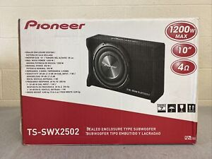 """Pioneer TS-SWX2502 Shallow Series 10"""" Single-Voice-Coil 4-Ohm Subwoofer 1200w"""