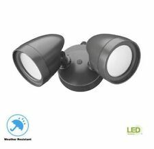 COMMERCIAL ELECTRIC Dusk to Dawn 2 Head Security Flood Light Outdoor LED