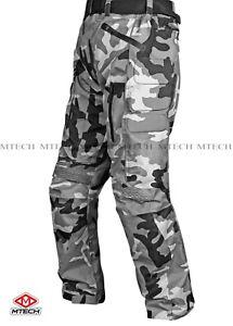 MTECH Motorbike Cordura Textile Pants Water Proof CE Armoured Pants Trouser
