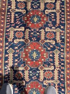 Antique 1920s Russian Caucasian Rug