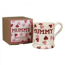 Emma Bridgewater Pink Hearts 'Mummy' Half Pint Mug GIFT BOX INCLUDED