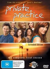 PRIVATE PRACTICE- EXTENDED EDITION - SEASON 1(DVD, 3 DISC BOX SET) R-4, LIKE NEW